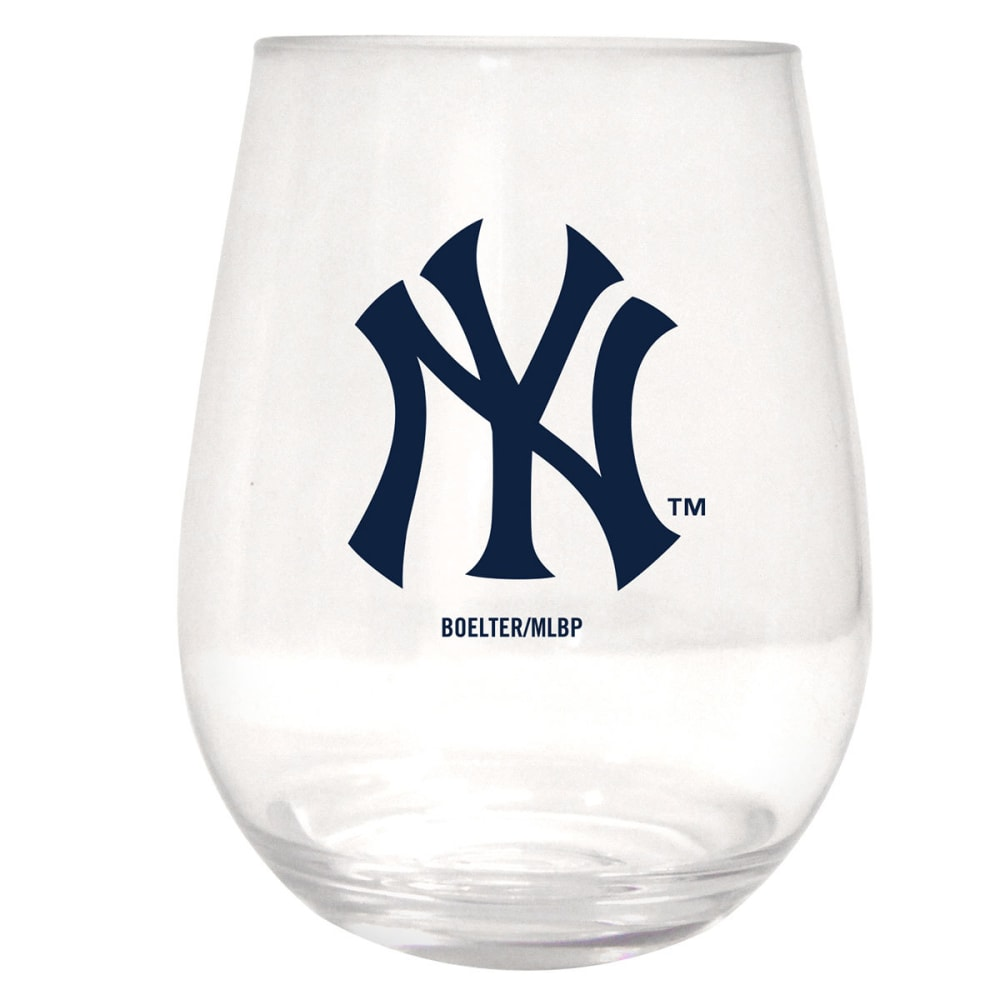 NEW YORK YANKEES Plastic Stemless Wine Glass - ASSORTED