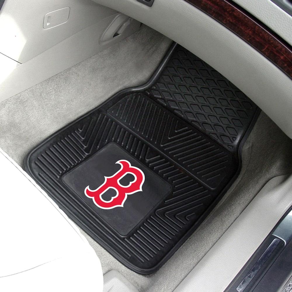 BOSTON RED SOX Vinyl Car Mats, 2 Pack - ASSORTED