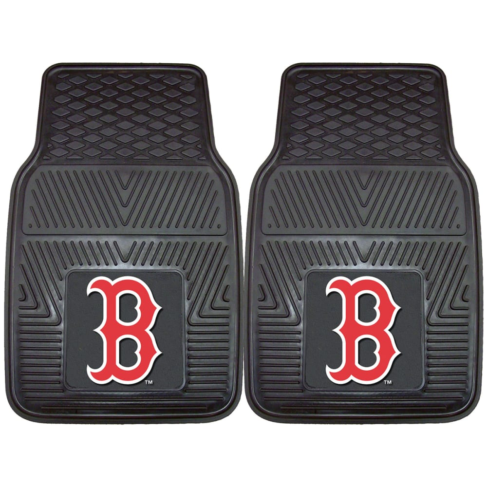 BOSTON RED SOX Vinyl Car Mats, 2 Pack - ASSORTED