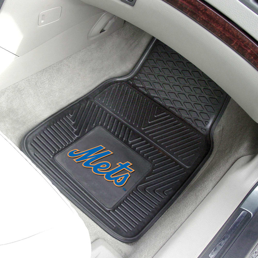 NEW YORK METS Vinyl Car Mats, 2 Pack - ASSORTED
