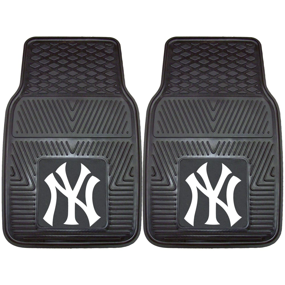 NEW YORK YANKEES Vinyl Car Mats, 2 Pack ONE SIZE