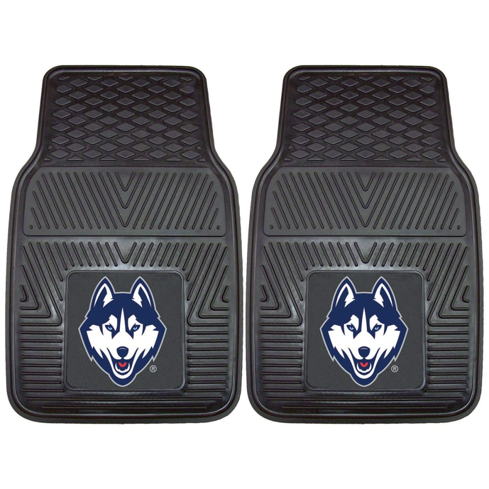 UCONN Vinyl Car Mats, 2 Pack ONE SIZE