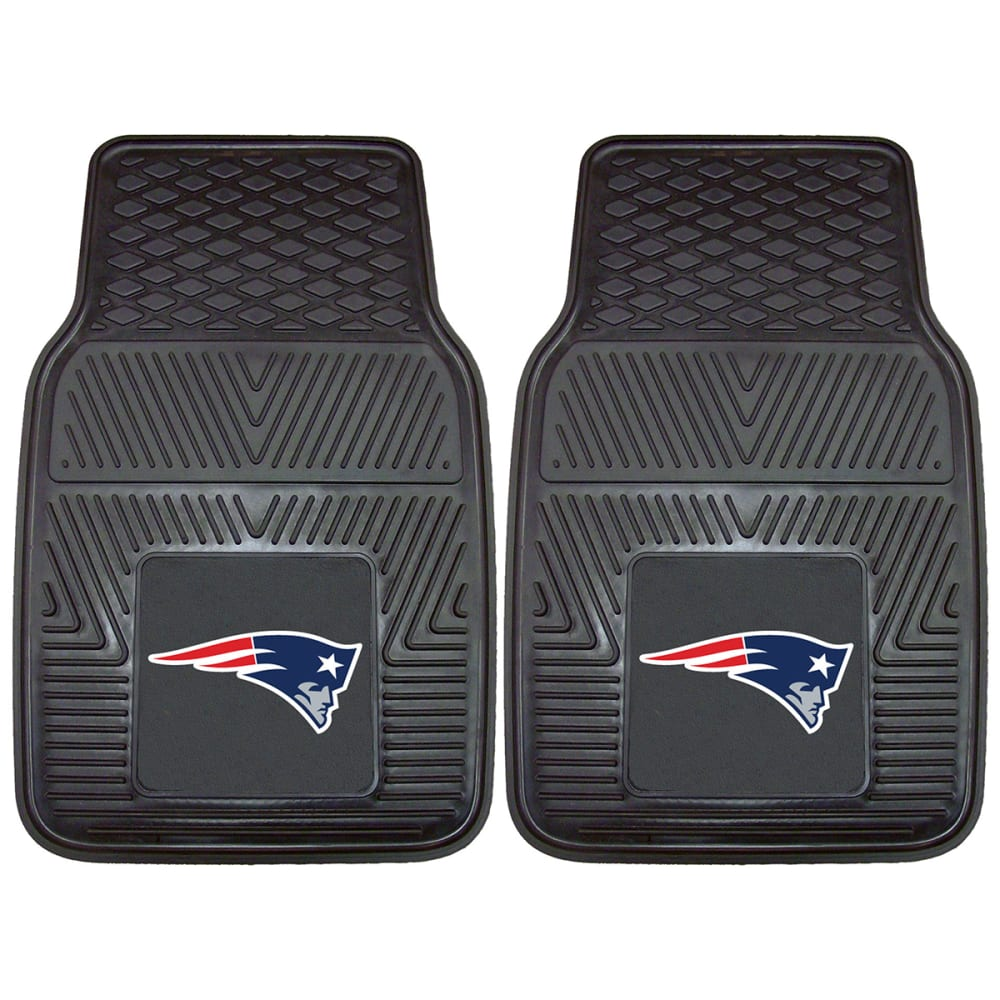 New England Patriots Vinyl Car Mats, 2 Pack