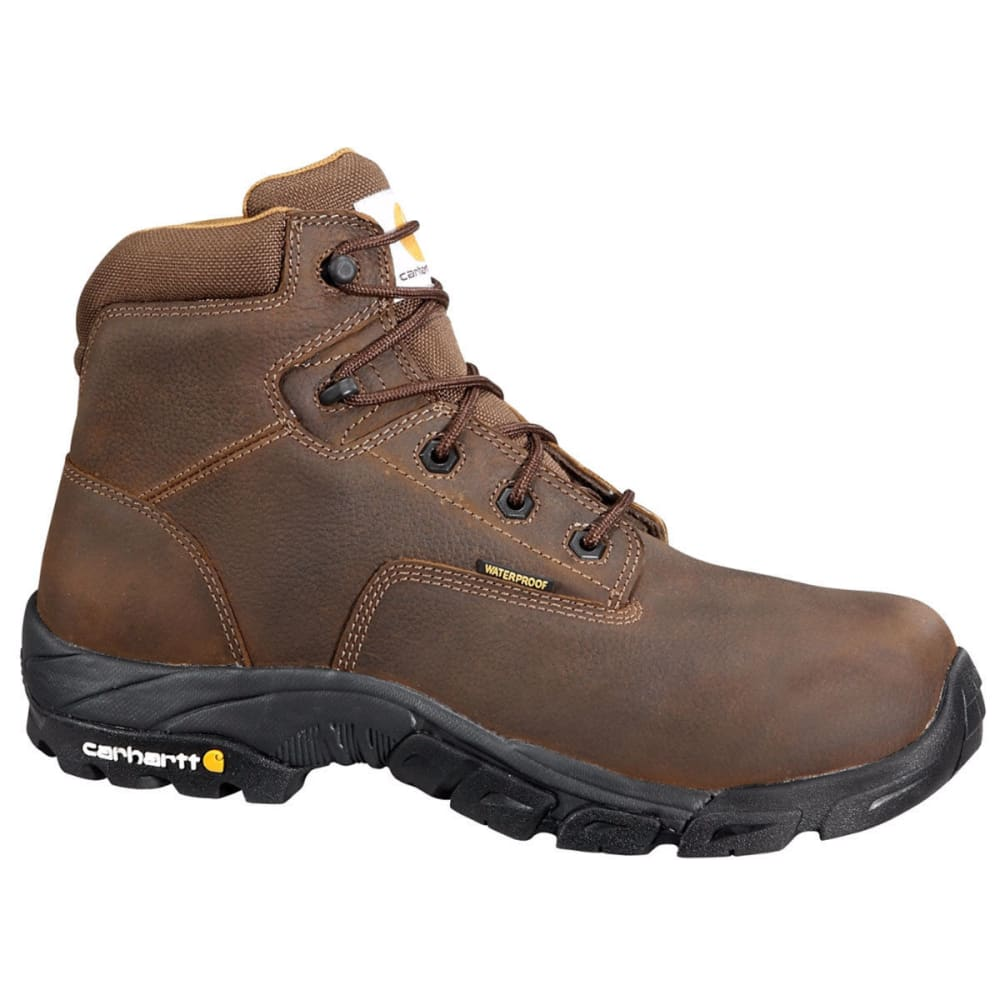 CARHARTT Men's 6 in. Waterproof Work Hiker Boots - BISON BROWN OIL TAN