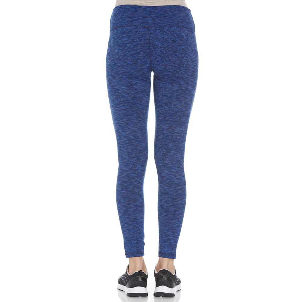 RBX Women's Speckled Space-Dye Peached Leggings - NAVY-B