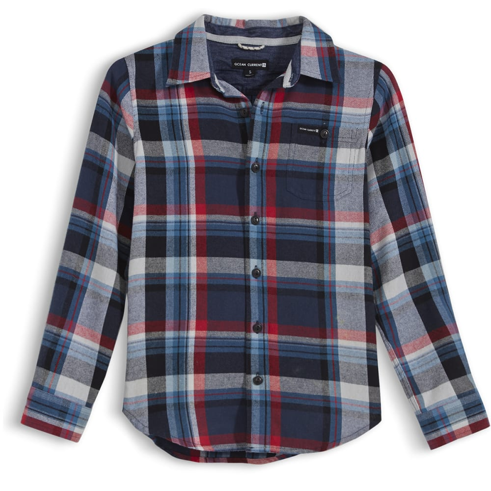 OCEAN CURRENT Boys' Roots Flannel Shirt - MOROCCAN PLAID