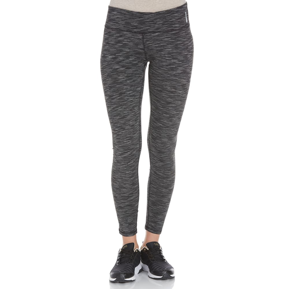 RBX Women's Multi Space-Dye Peached Leggings - BLACK-A