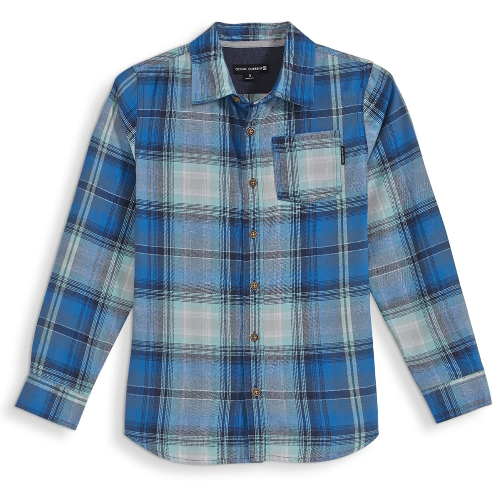 OCEAN CURRENT Boys' Roam Flannel Shirt - MINT