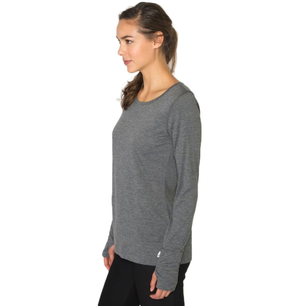 RBX Women's Open Back Long-Sleeve Tee - CHARCOAL-A