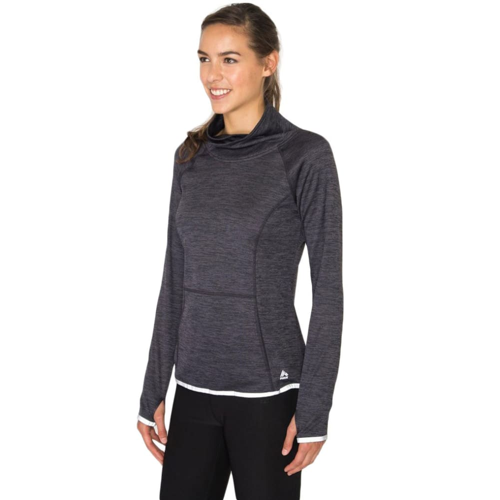 RBX Women's Double-Dye Brushed Back Pullover - BLACK-A
