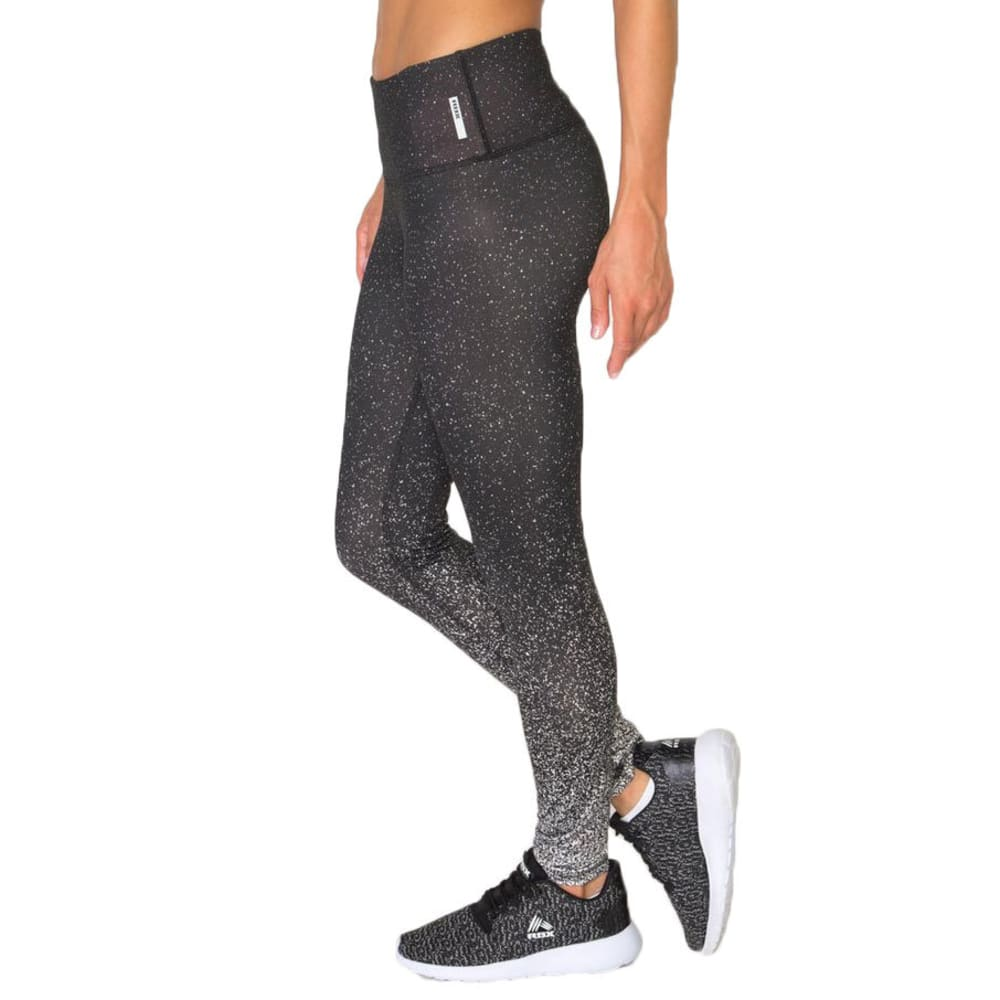 RBX Women's Engineered Print Leggings - BLACK/WHITE-A