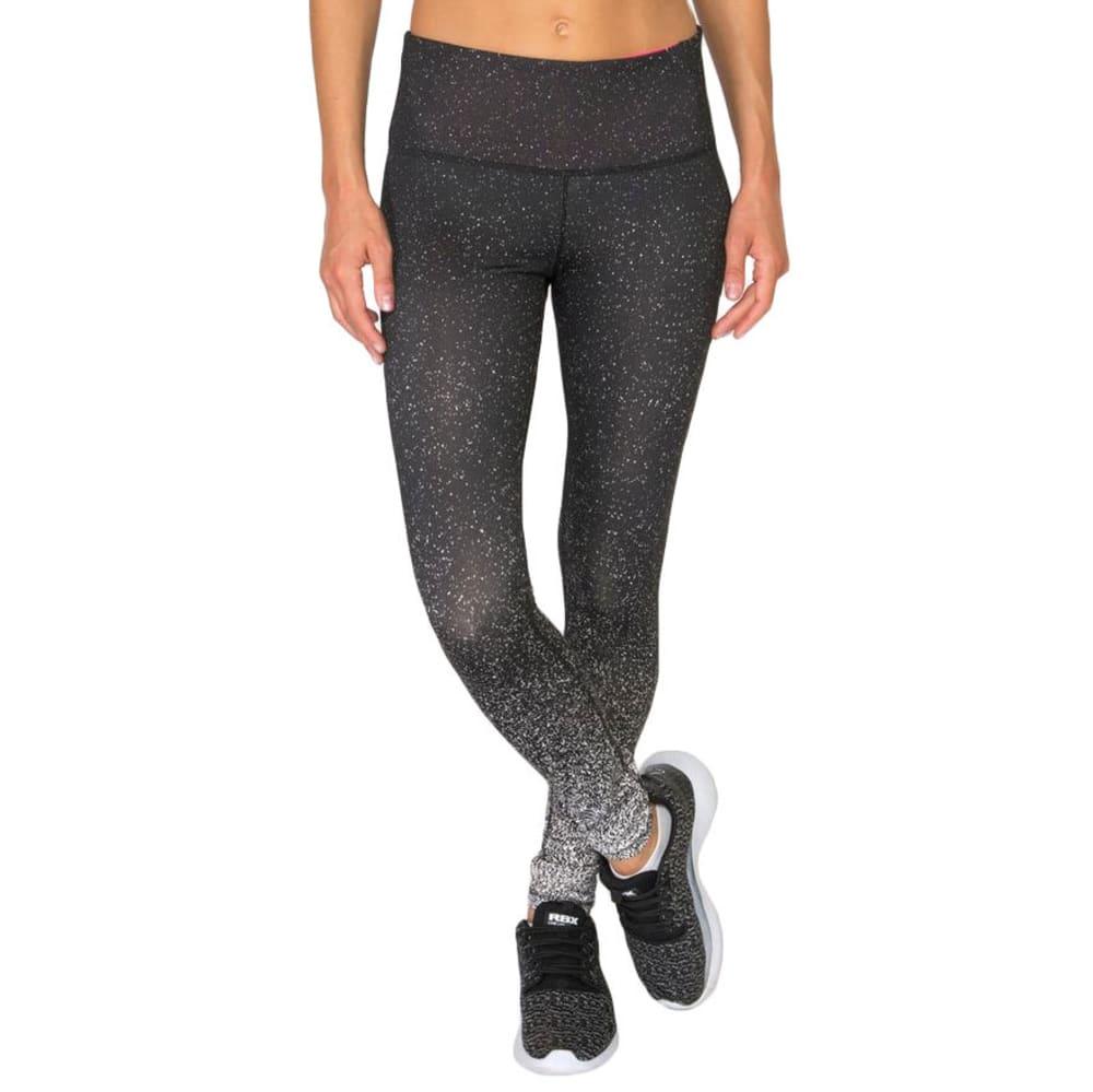 RBX Women's Engineered Print Leggings - BLACK/WHITE-A