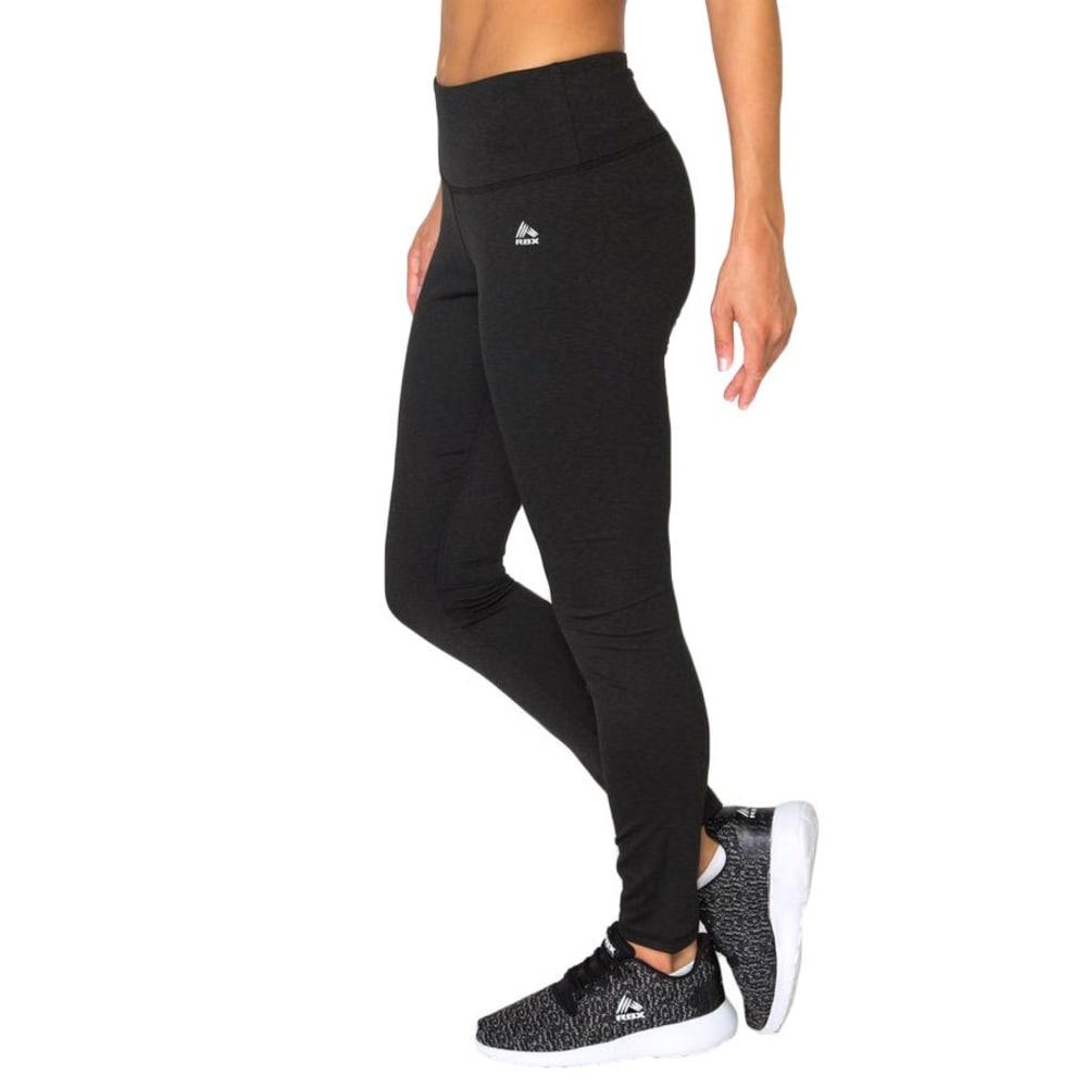RBX Women's Striated Brushed Back Leggings - BLACK-A