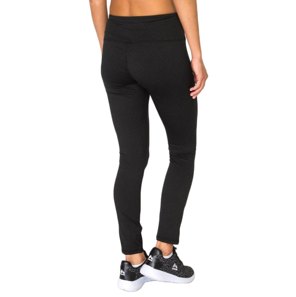 RBX Women's Striated Brushed Back Leggings - BLACK-A