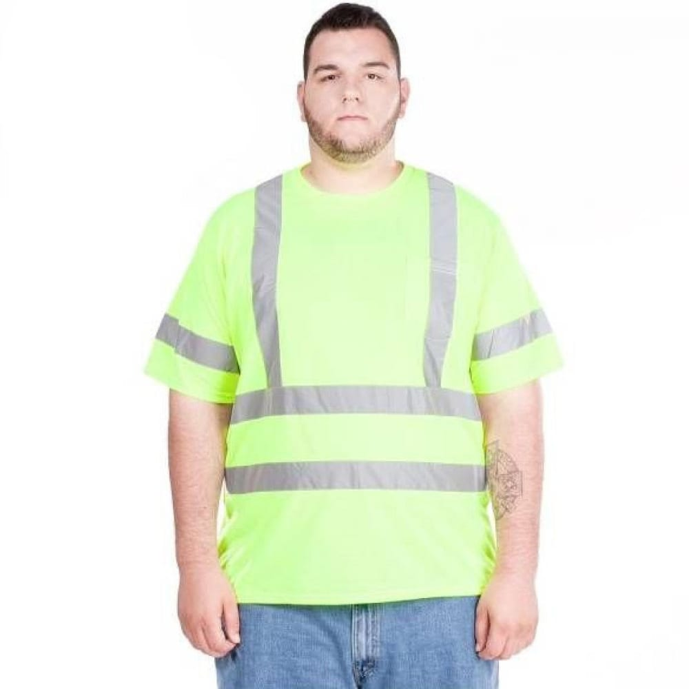 UTILITY PRO Men's UHV302 High-Visibility Short-Sleeve Shirt - FLORESSENT YELLOW