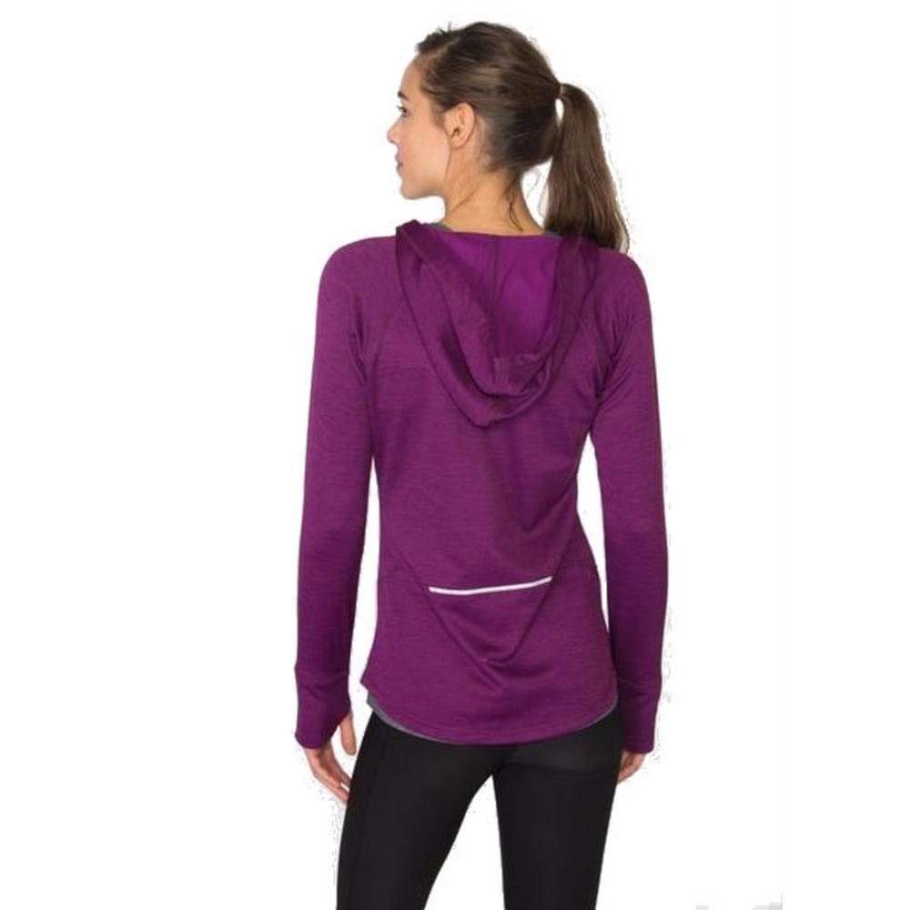 RBX Women's Space-Dye Brushed Back Hooded Jacket - RAISIN SPICE-C