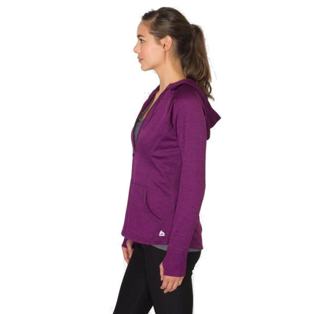 RBX Women's Space-Dye Brushed Back Hooded Jacket - RAISIN SPICE-C