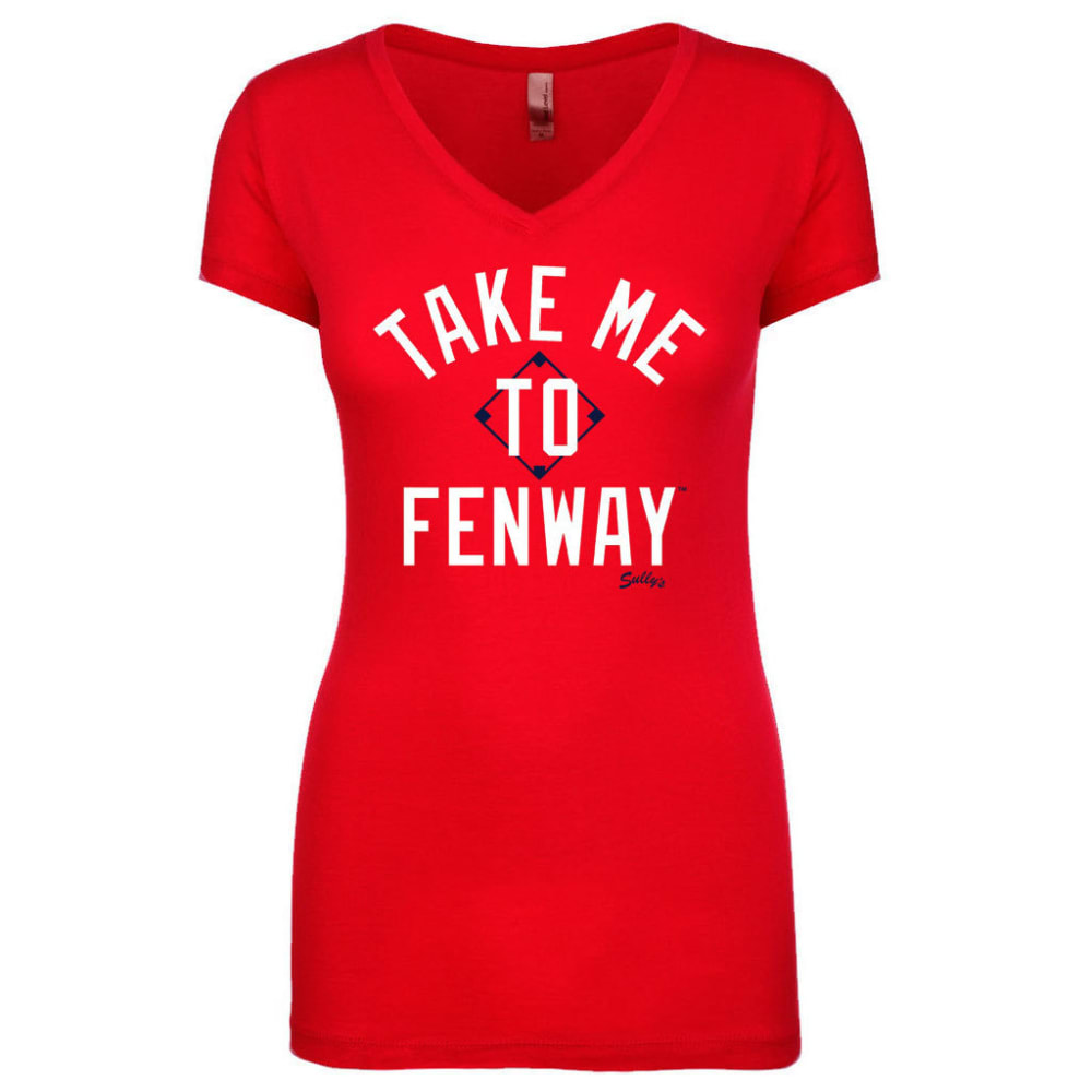BOSTON RED SOX Women's Take Me to Fenway V-Neck Tee - RED