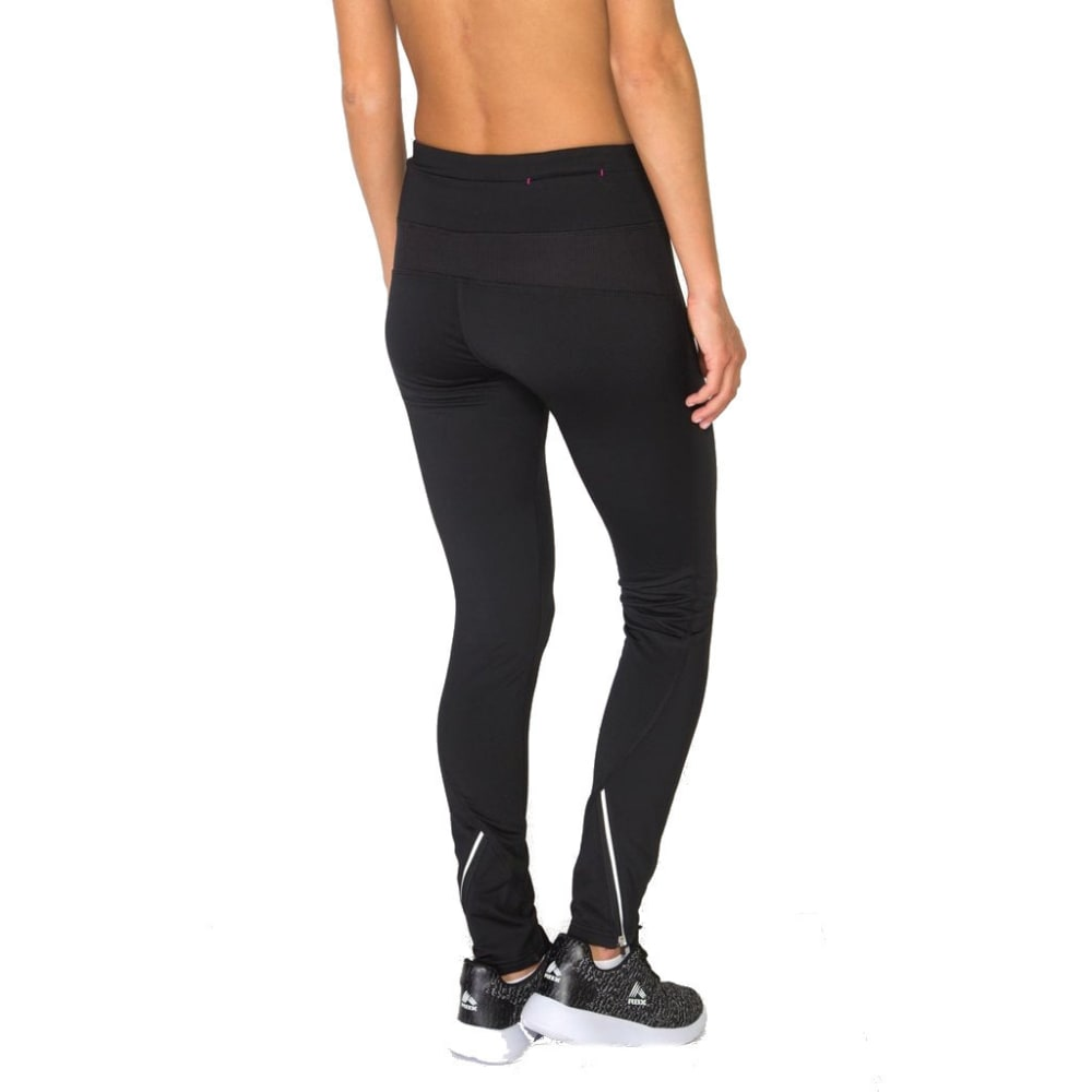RBX Women's Zipper Trim Brushed-Back Leggings - BLACK-A