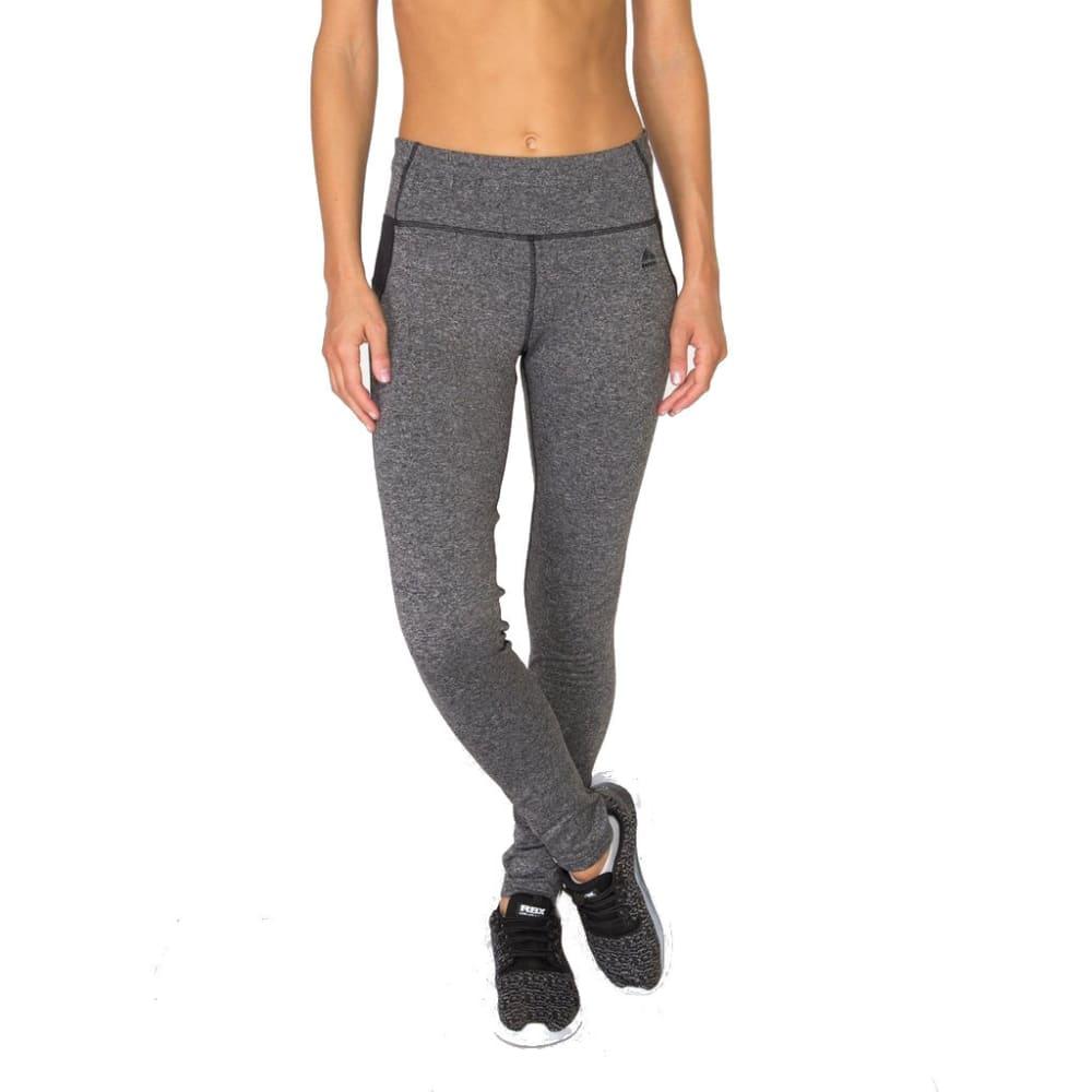 RBX Women's Zipper Trim Brushed-Back Leggings - CHARCOAL-B