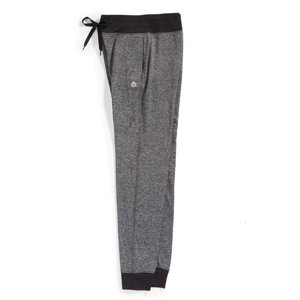 RBX Women's Brushed-Back Fleece Jogger Pants - CHARCOAL- 1B