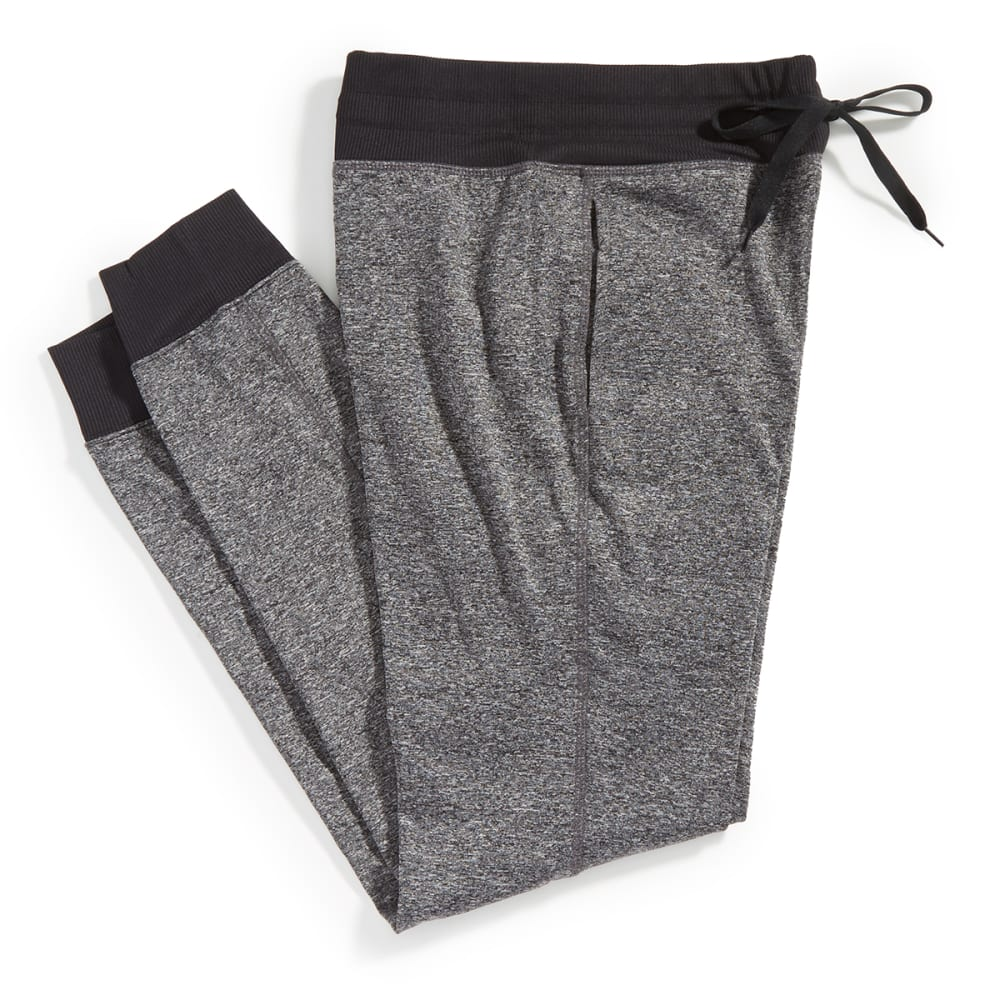 RBX Women's Brushed-Back Fleece Jogger Pants - CHARCOAL- 1B