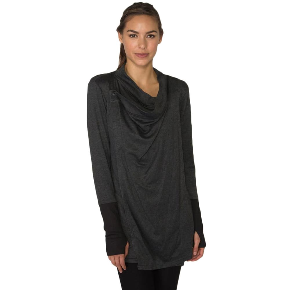 RBX Women's Brushed Back Fly Away Cardigan - CHARCOAL-A
