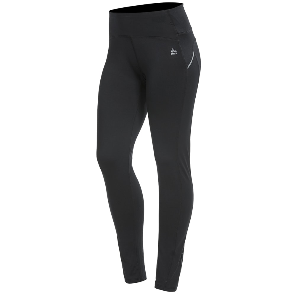 RBX Women's Seamed Brushed-Back Leggings - BLACK-A