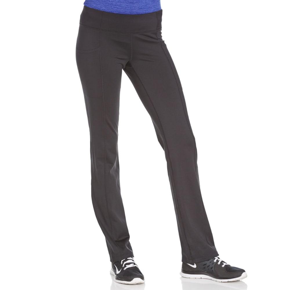 LAYER 8 Women's Cold Gear Modern Boot Cut Pants - BLACK/BLUE