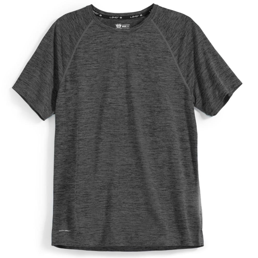 LAYER 8 Men's Chunky Sueded Heather Tee - GREYSTONE HTHR-GZ