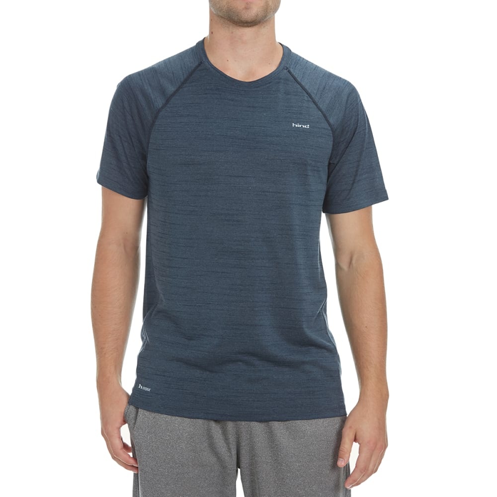 HIND Men's Space-Dye Heather Crew Tee - DARK SHADOW-DSD