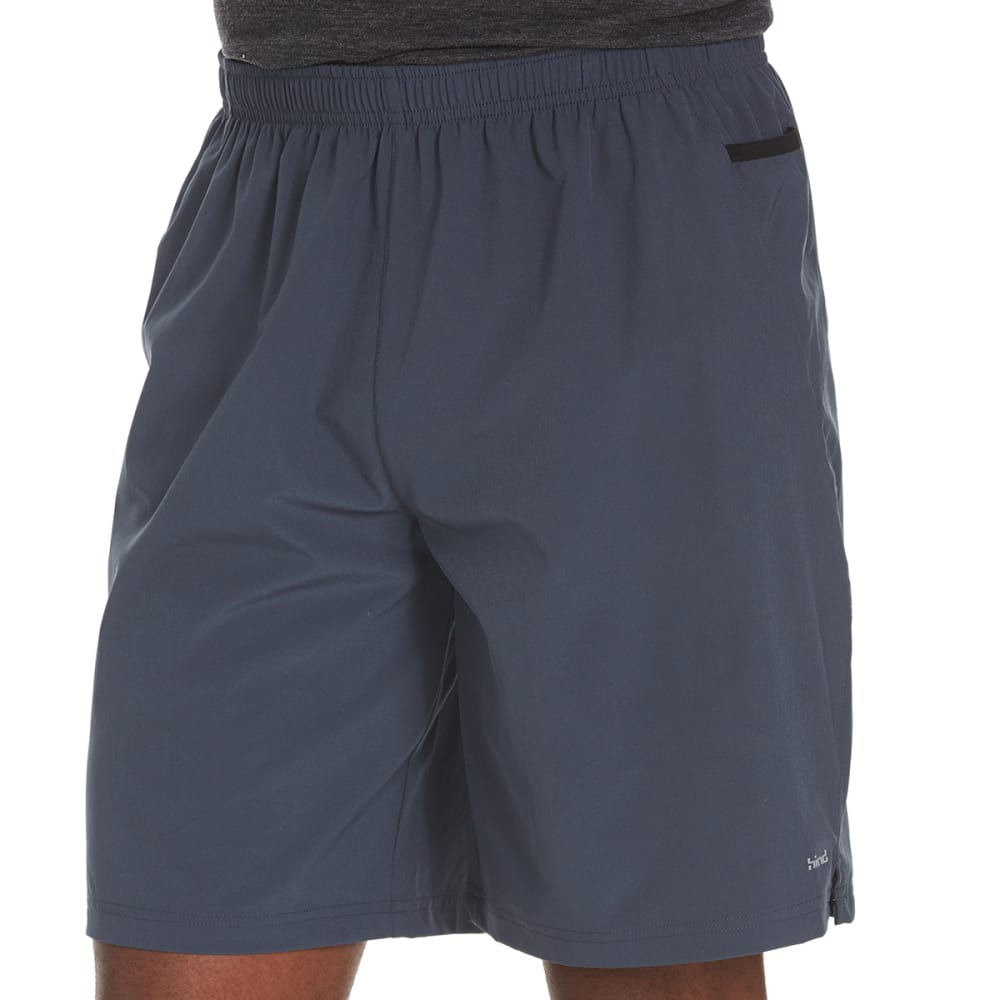 HIND Men's Two-Layer Running Shorts - RICK BLACK/GREY MIRA