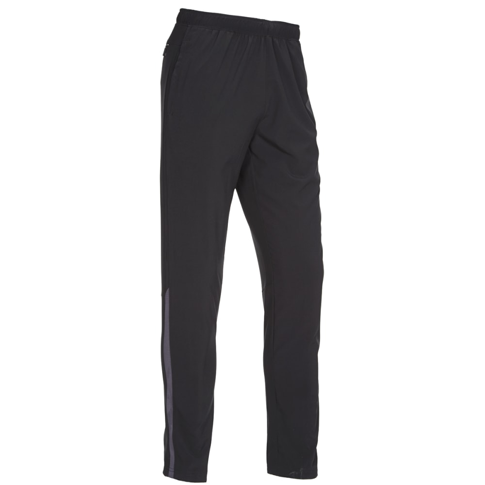 HIND Men's Woven Stretch Running Pants - BLACK/ANTH-BLA