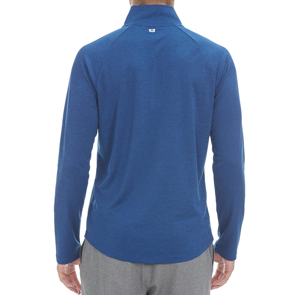 LAYER 8 Men's Heather ¼-Zip Layering Pullover - INDIGO-IND
