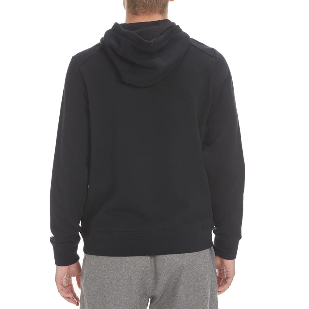 LAYER 8 Men's CVC Fleece Pullover Hoodie - RICH BLACK-RCB
