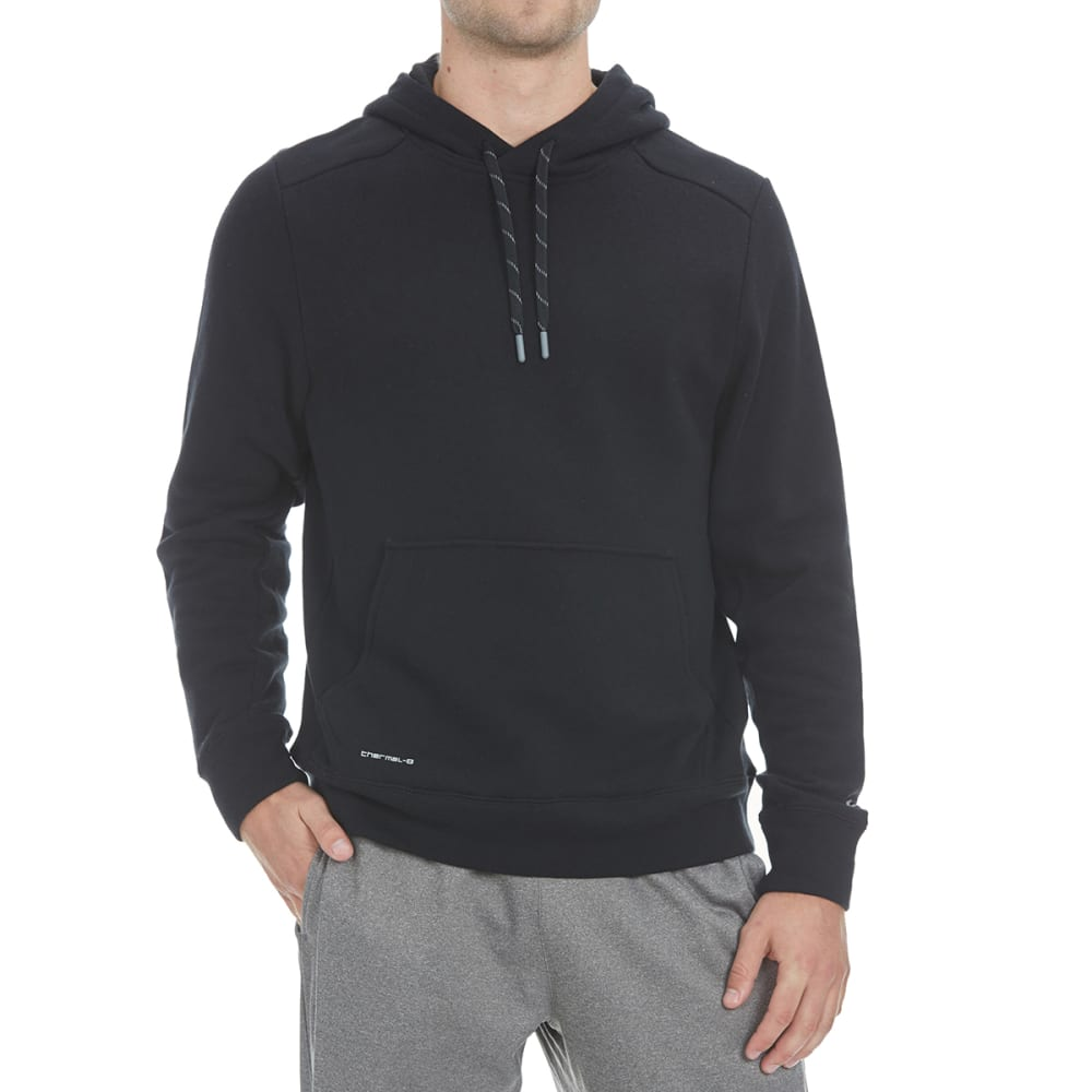 LAYER 8 Men's CVC Fleece Pullover Hoodie - RICH BLACK-RCB