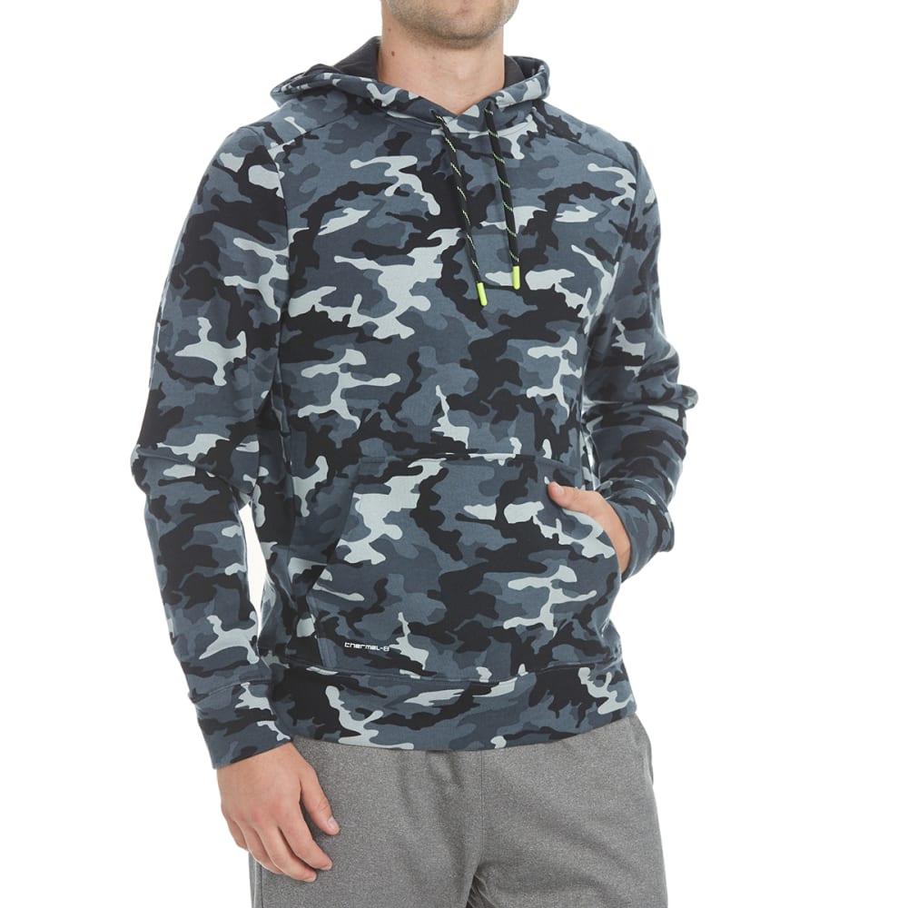 LAYER 8 Men's CVC Fleece Pullover Hoodie - GREY CAMO PRINT-GRC