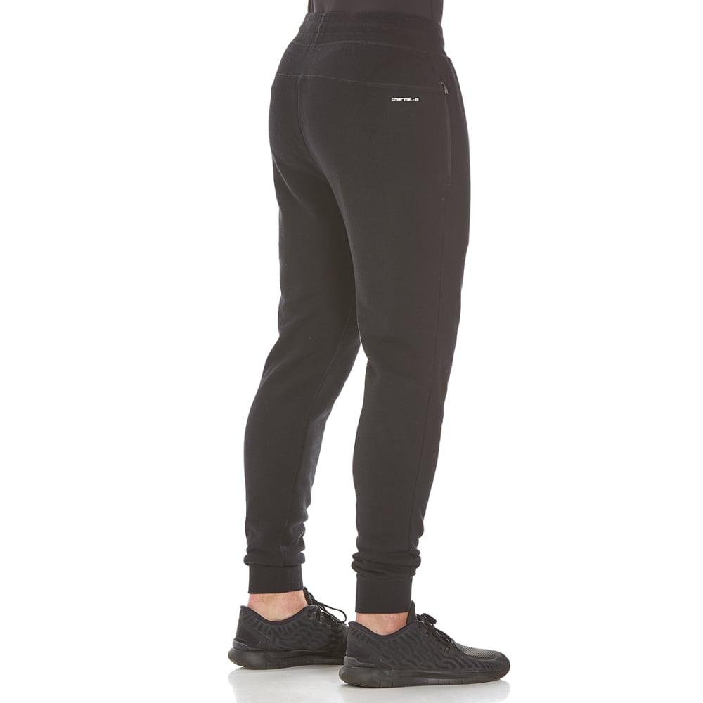 LAYER 8 Men's CVC Fleece Jogger Pants - RICH BLACK-RCB