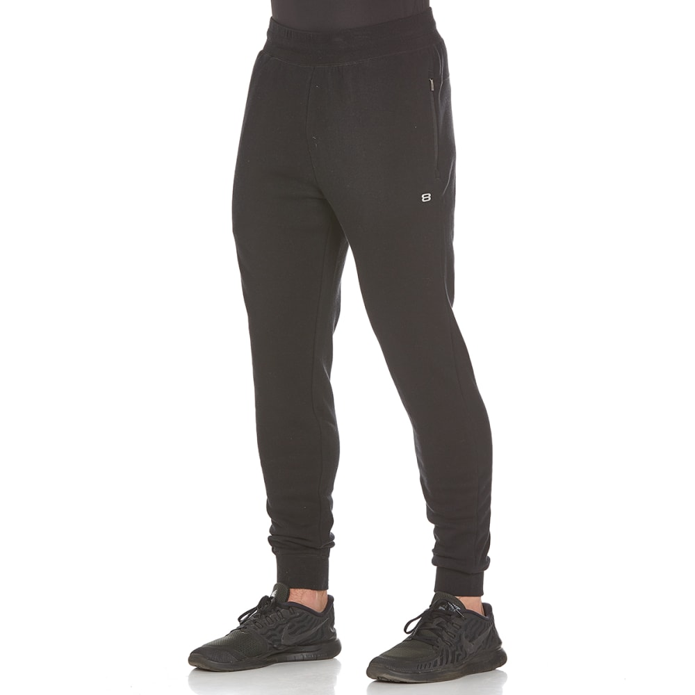 LAYER 8 Men's CVC Fleece Jogger Pants - RICH BLACK-RCB