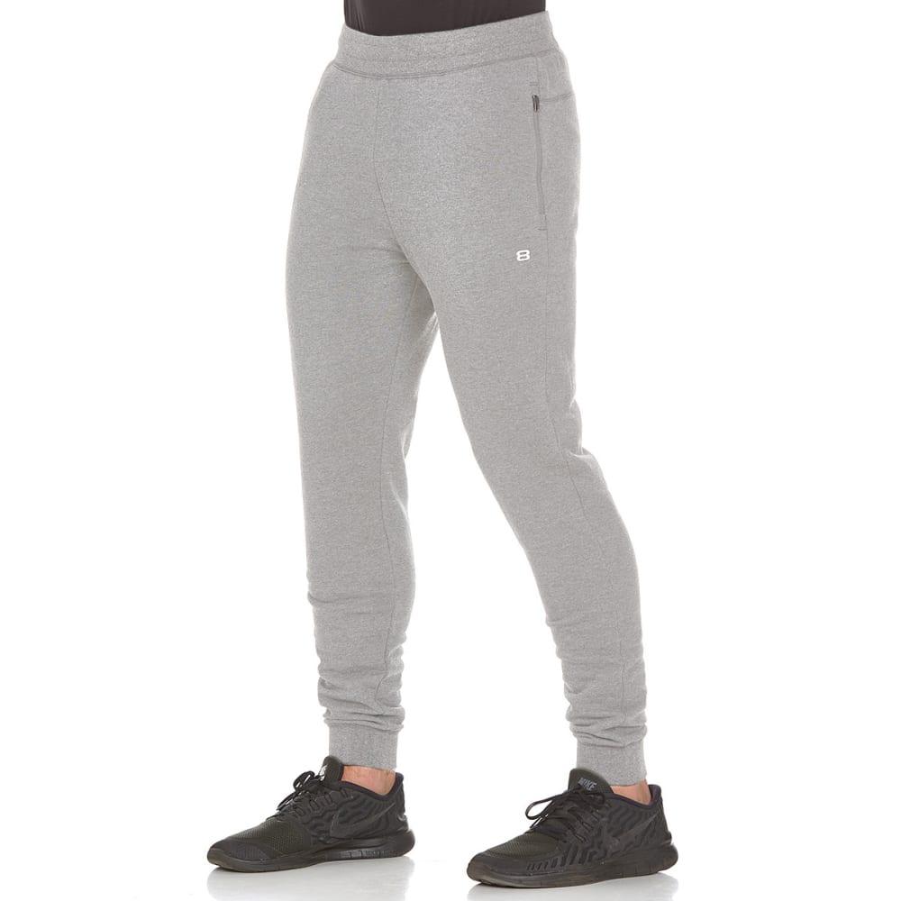 LAYER 8 Men's CVC Fleece Jogger Pants - MED GREY HTHR-MGH