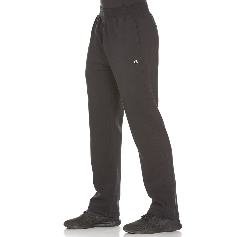 LAYER 8 Men's CVC Fleece Pants - RICH BLACK-RCB