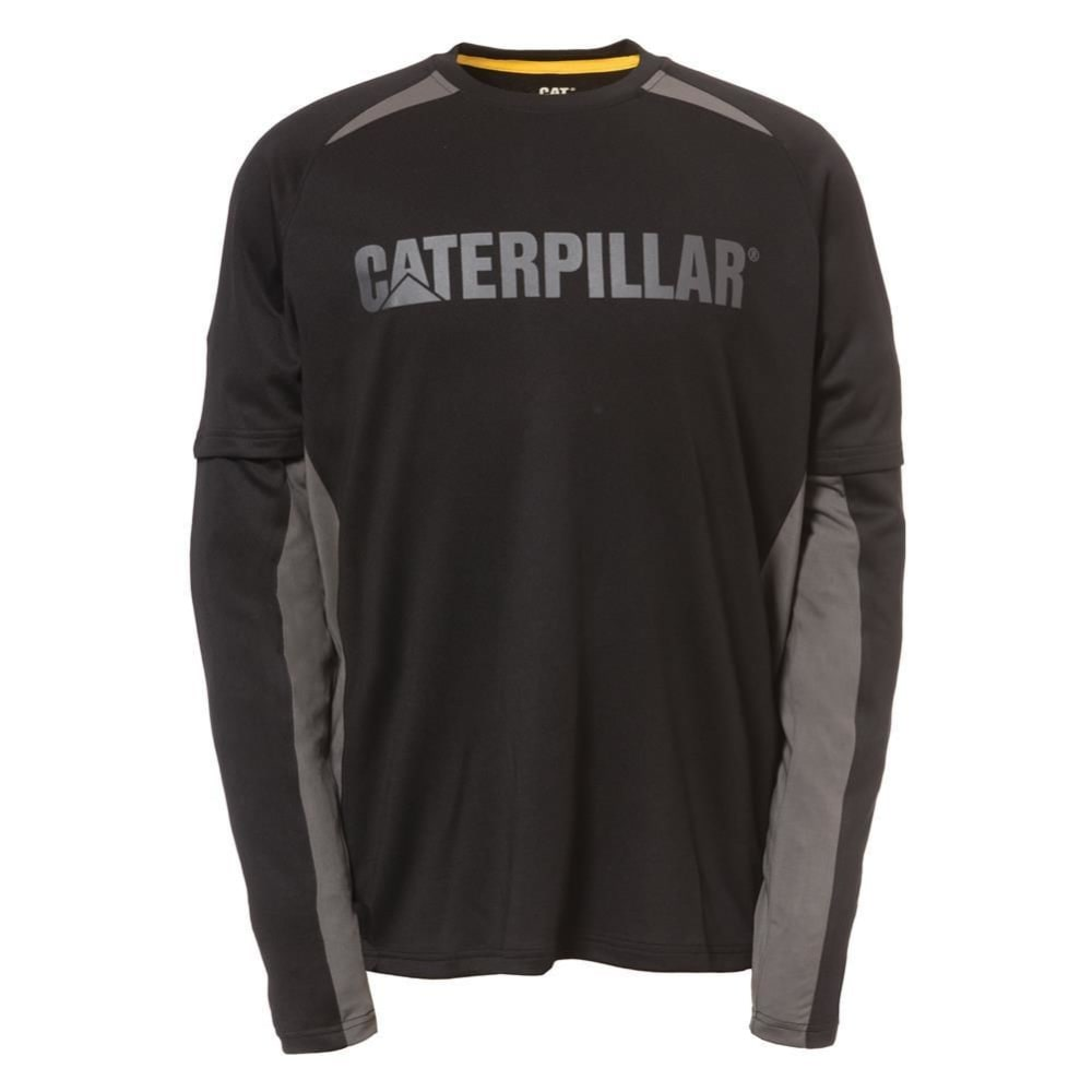 CATERPILLAR Men's Expedition Long-Sleeve Tee - 016 BLACK