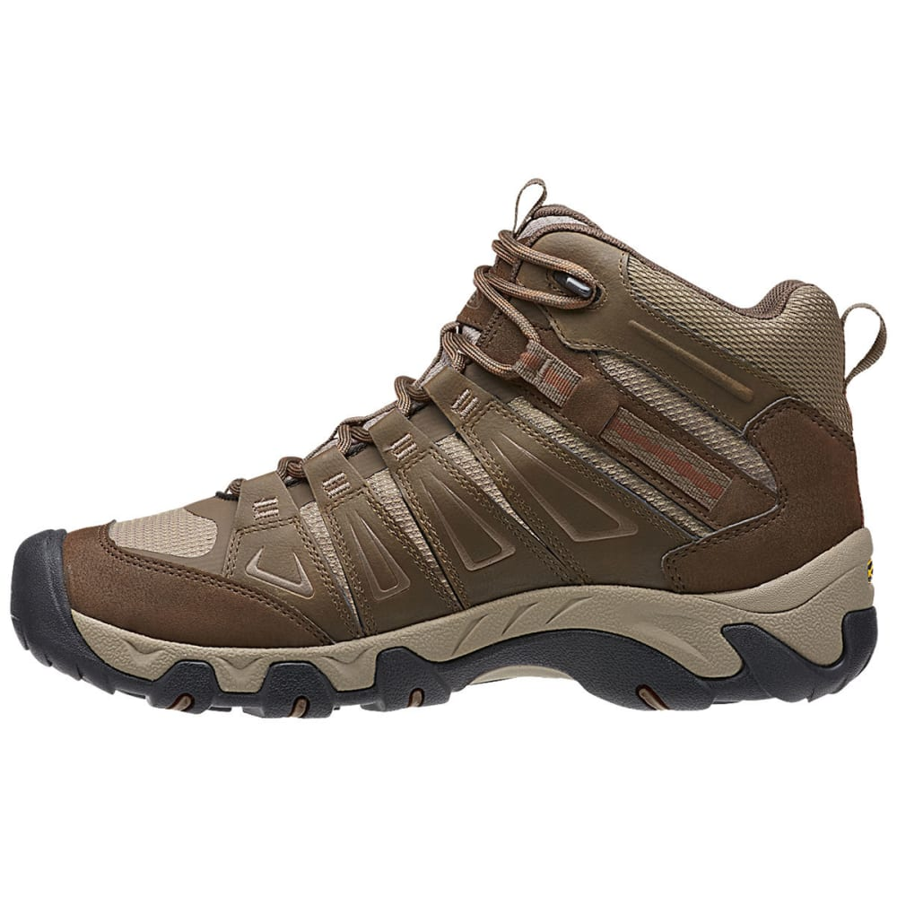 KEEN Men's Oakridge Mid Waterproof Boots - CASCADE/BRINDLE