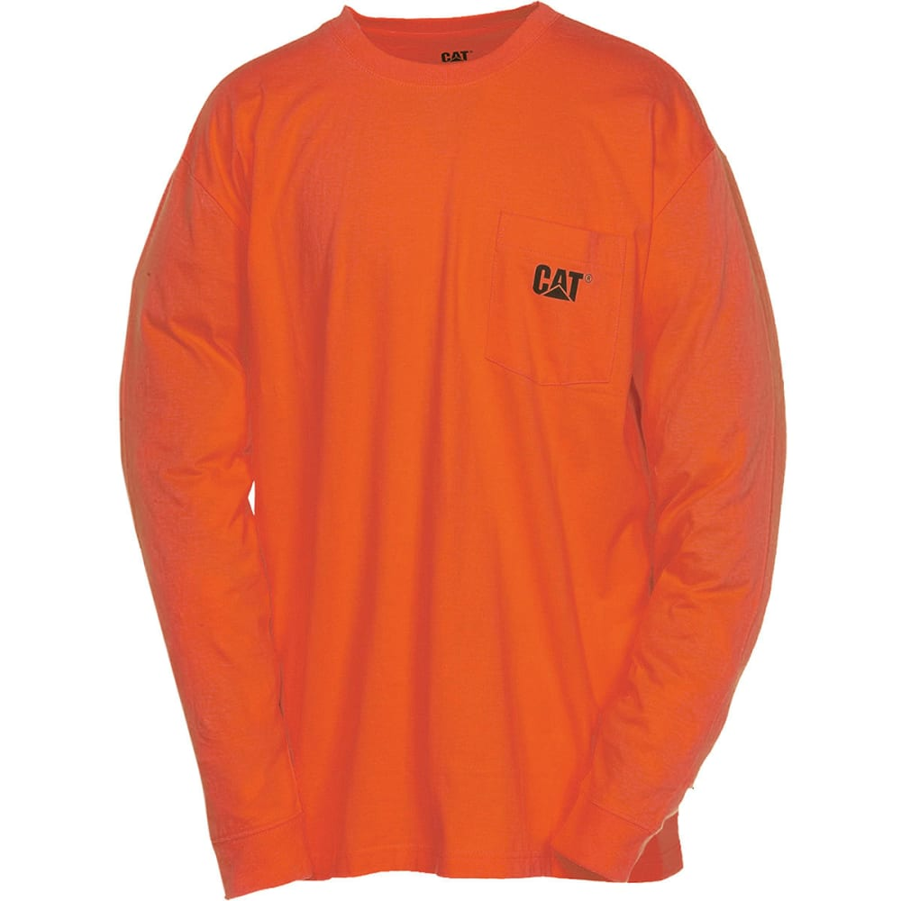 CATERPILLAR Men's Trademark Long-Sleeve Pocket Tee - 10105 A ORANGE-DROP