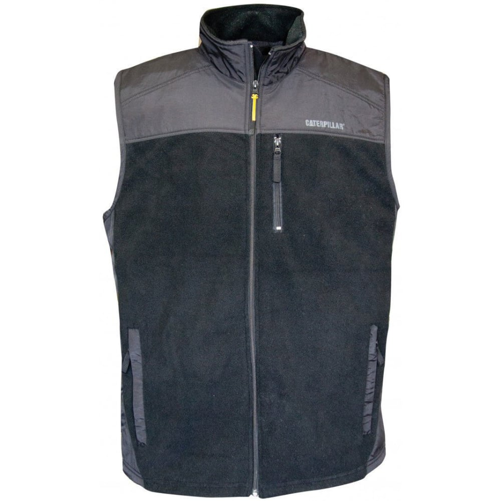 CATERPILLAR Men's CAT 1322033 Fleece Vest - 004 DK HEATHER GRAY