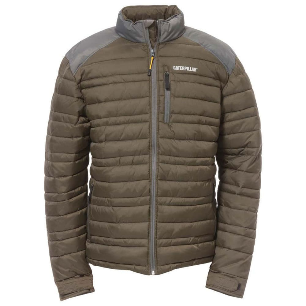CATERPILLAR Men's Defender Insulated Ripstop Jacket - 10639 ARMY MOSS