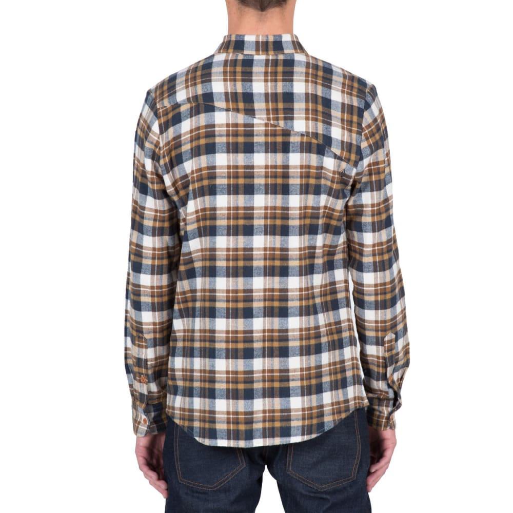 VOLCOM Guys' Hewitt Flannel Long-Sleeve Shirt - EGG WHITE- EGW