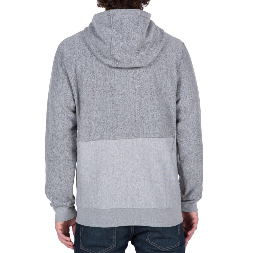 VOLCOM Guys' Static Stone-Lined Zip Hoodie - GREY- GRY