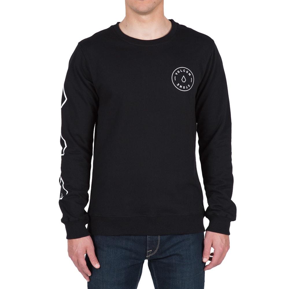 VOLCOM Guys' Vidette Crew Long-Sleeve Sweatshirt - BLACK- BLK