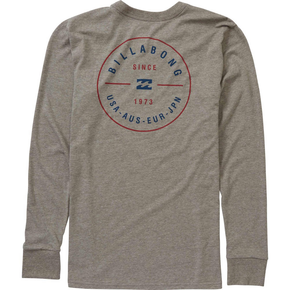 BILLABONG Men's Rotor Long-Sleeve Tee - DGR- DARK GREY HTR